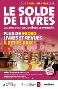 Solde de livres 2013 des Amis de la Bibliothèque de Montréal. Plus de 90 000 livres à 50¢, 1$ ou 2$