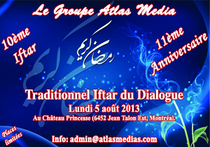 Traditionnel IFTAR du Groupe Atlas Media le 5 août 2013
