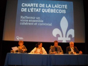 Conférence débat de Québec Solidaire.  Une proposition de Charte de la laïcité en réponse au projet de loi des valeurs québécoises