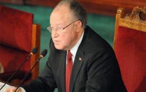 Mustapha Ben Jaâfar, président de l'Assemblée nationale constituante de la  tinisie