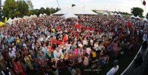 Le Parc Jarry en fête le 2 août… … à l'occasion de la Fête du Trône, fête nationale du Maroc