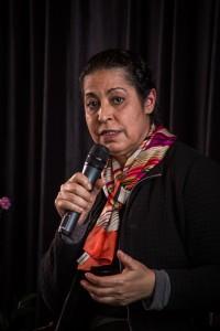 Forum des compétences canado-marocaines. Fatiha Chandad sur le podium